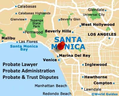 Los Angeles Probate Lawyer Office Map